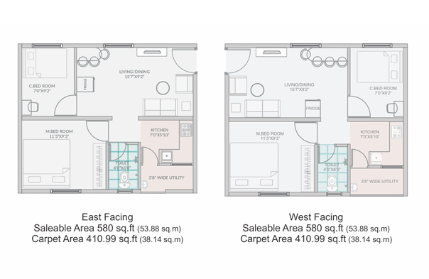 Flats for sale in Sainikpuri, 1/2 BHK Apartments in